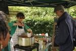 Anna ladling soup