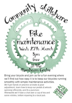 Bike maintenance poster