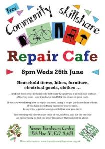 Repair cafe poster A4