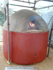 cob oven completed