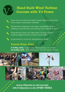 V3 Power Wind Turbine Course flyer